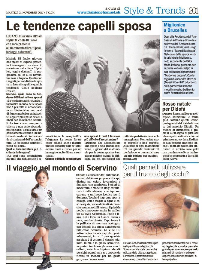 """fashionchannel.ch scrive su """"20 minuti"""" (21 novembre) 1"""